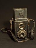 Retro macchina fotografica della foto del dslr dei due obiettivi Fotografia Stock