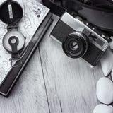 Retro macchina fotografica della pellicola immagine stock