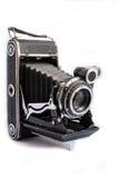 Retro macchina fotografica di formato medio su bianco Fotografia Stock