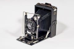 Retro macchina fotografica di piegatura Fotografie Stock