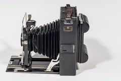 Retro macchina fotografica di piegatura Fotografia Stock