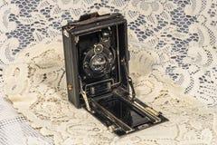 Retro macchina fotografica di piegatura Immagine Stock Libera da Diritti