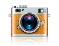 Retro macchina fotografica di stile Immagini Stock