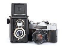 Retro macchina fotografica due Fotografie Stock Libere da Diritti