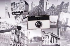 Retro macchina fotografica, fotographia e fotografie Fotografia Stock
