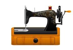 Retro macchina per cucire Immagine Stock