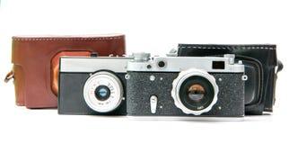 Retro macchine fotografiche Fotografie Stock