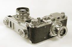 Retro macchine fotografiche. Fotografia Stock