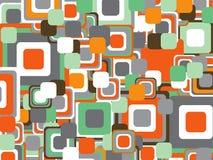Retro machts oranje vierkanten royalty-vrije illustratie