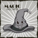 Retro Magic Wizard Hat Royalty Free Stock Images
