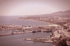 Retro Malaga, Hiszpania Zdjęcia Stock