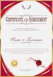 Retro mall för certifikat eller för tappningdesign för diplom vektor illustrationer