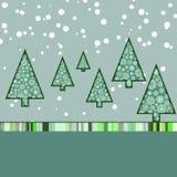 Retro Malplaatje van de Kerstkaart. EPS 8 Royalty-vrije Stock Afbeelding