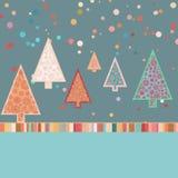Retro Malplaatje van de Kerstkaart. EPS 8 Royalty-vrije Stock Fotografie