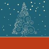 Retro Malplaatje van de Kerstmiskaart. EPS 8 Royalty-vrije Stock Fotografie
