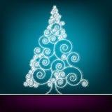 Retro Malplaatje van de Kerstmiskaart. EPS 8 Royalty-vrije Stock Foto