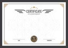 Retro malplaatje van het certificaatontwerp vector illustratie