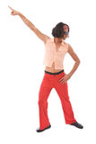 Retro man dancing Stock Images