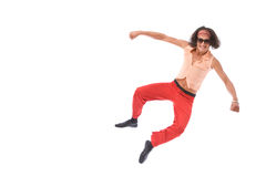 Retro man dancing Royalty Free Stock Photos