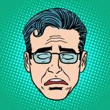 Retro man för Emoji skrikframsida royaltyfri illustrationer