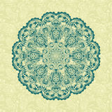 Retro mandala Stock Image