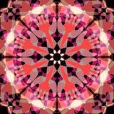 RETRO mandala, kwiaty W centrum, GEOMETRYCZNY BACKGROUN, światło - pomarańcze, pomarańcze, biel, szarość, czerń, kurenda royalty ilustracja
