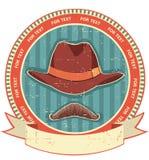 Retro manhatt och mustascher vektor illustrationer