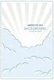 Retro manifesto astratto con un cielo blu Fotografia Stock