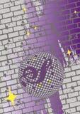 Retro manifesto astratto di ballo Fotografie Stock