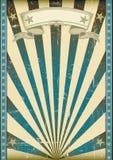 Retro manifesto blu strutturato Fotografia Stock