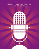 Retro manifesto del microfono Fotografia Stock