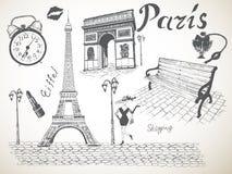 Retro manifesto di Parigi Fotografia Stock