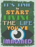Retro manifesto motivazionale d'annata di citazione Vettore IL Fotografia Stock Libera da Diritti