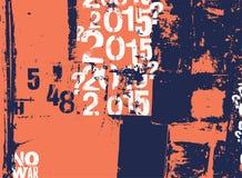 Retro manifesto nello stile di lerciume con i segni tipografici Illustrazione di vettore Fotografie Stock Libere da Diritti
