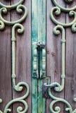 Retro maniglia di porta classica della lega Fotografia Stock