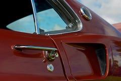 Retro maniglia di portello automobilistica fotografia stock