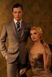 Retro- Mann und Frau Lizenzfreie Stockbilder