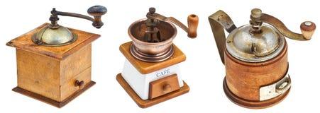 Retro manual coffee mills Royalty Free Stock Photos
