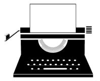 Retro manual typewriter Stock Images