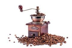 Retro- manuelle Kaffeemühle Stockfotos