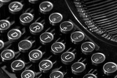 Retro- manuelle Schreibmaschinentasten Lizenzfreies Stockbild