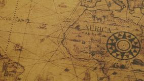 Closeup of retro world map stock footage image of asia 115615728 retro map of south america and africa stock video footage gumiabroncs Images