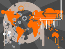 Retro map vector vector illustration