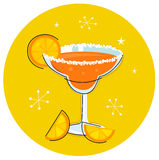 Retro Margarita drink or cocktail Stock Photo
