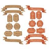 Retro Markeringen en Banners Royalty-vrije Stock Fotografie