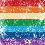 Retro- Markierungsfahne der Rechte der Homosexuellen vektor abbildung
