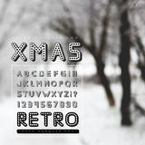 Retro marquee font Stock Photography