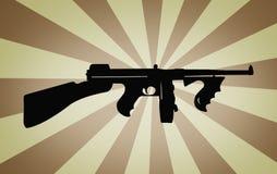 Retro- Maschinengewehr stockfoto