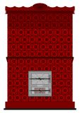 Retro masonry heater Royalty Free Stock Photo