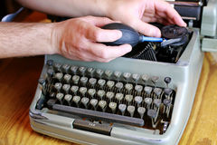 Retro maszyna do pisania list Obrazy Royalty Free